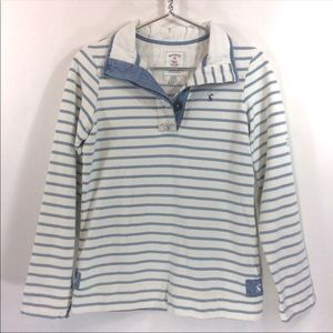 Joules Cowdray Salt Wash Striped Funnel Neck Shirt